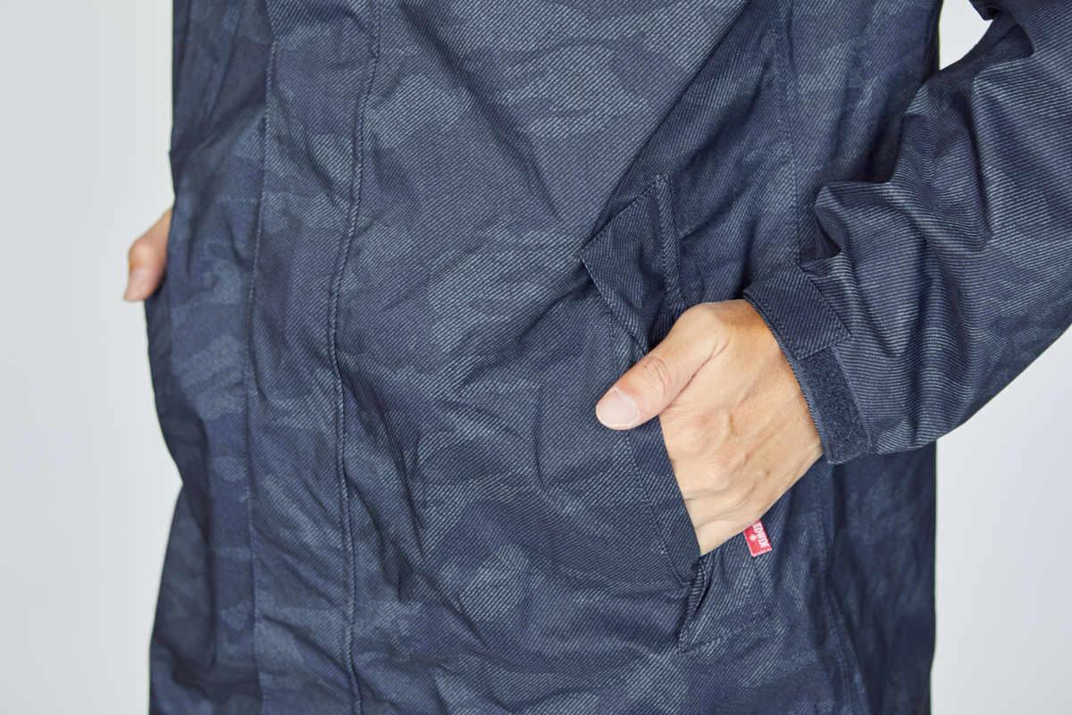 フラップ付きポケット