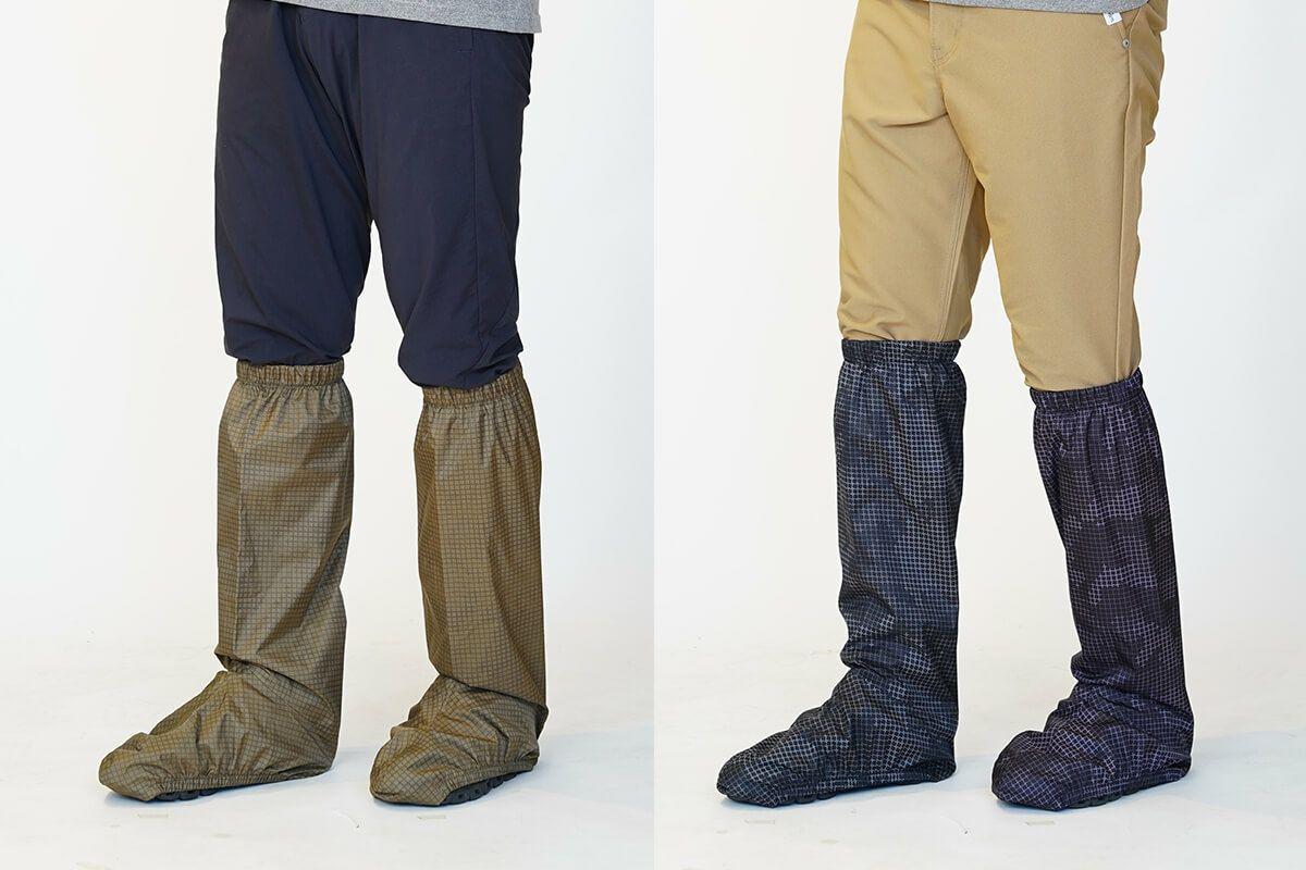 足元から守る。「7581 レインフットカバー」裾周りの防水に、より万全の雨対策におすすめのレイングッズ